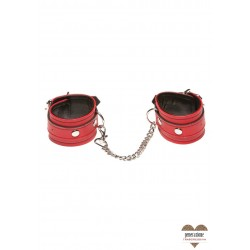 X-PLAY LOVE CHAIN WRIST CUFFS RED