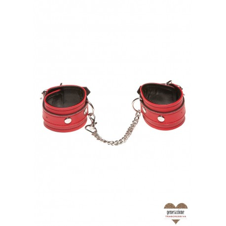 Sexy Shop X-PLAY LOVE CHAIN WRIST CUFFS RED