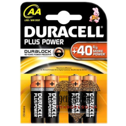 Sexy Shop BATTERIA AA STILO DURACELL 4 PEZZI PLUS POWER
