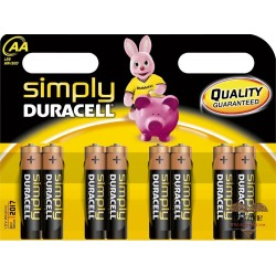 Sexy Shop BATTERIA AA STILO DURACELL 8 PEZZI SIMPLY