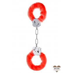 FURRY FUN CUFFS RED PLUSH