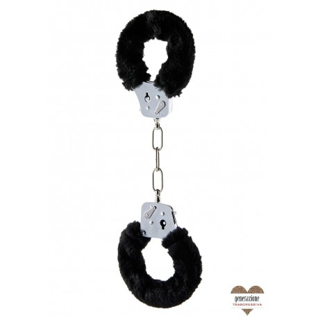 Sexy Shop FURRY FUN CUFFS BLACK PLUSH