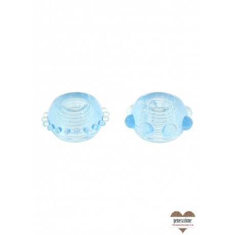 Sexy Shop POWER STRETCHY RINGS BLUE 2PCS