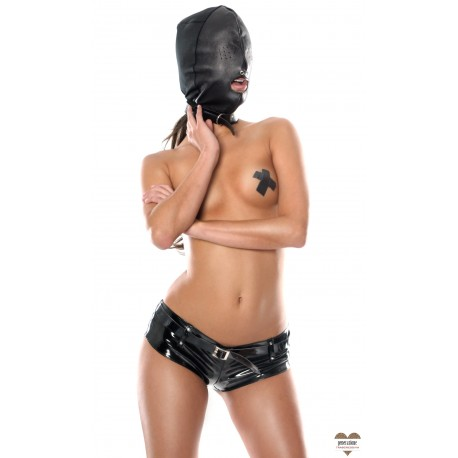 Sexy Shop FF LEATHER HOOD WITH 3 HOLES