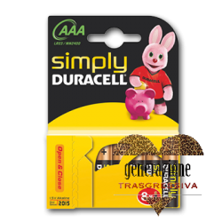 Sexy Shop BATTERIA AAA MINISTILO DURACELL 8 PEZZI SIMPLY