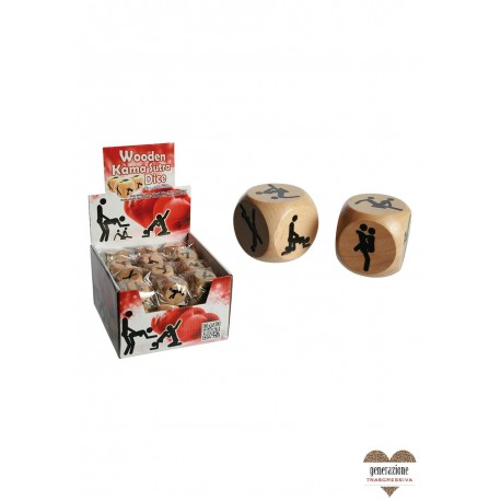 Sexy Shop WOODEN DICE/KAMASUTRA DISP 36PCS