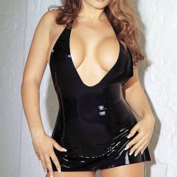 EROTIC MINI DRESS BLACK SMALL