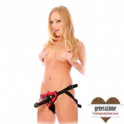 Sexy Shop FF VIBRATING STRAP-ON SET - RED