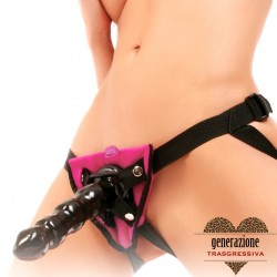 Sexy Shop FF VIBRATING STRAP-ON SET - PINK