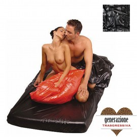 Sexy Shop TELO COPRILETTO SIMIL LATEX PVC NERO 180X260CM