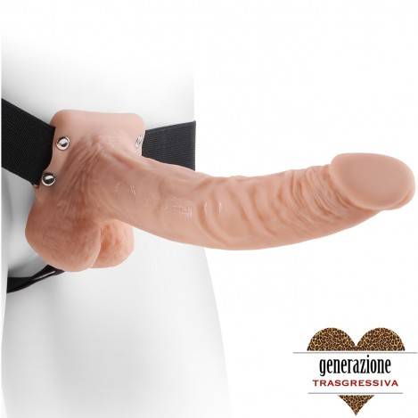 Sexy Shop FETISH FANTASY SERIES 9″ HOLLOW STRAP-ON WITH BALLS