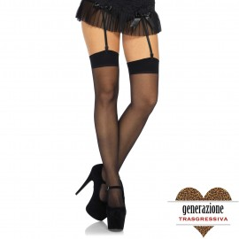 SHEER STOCKINGS BLACK OS